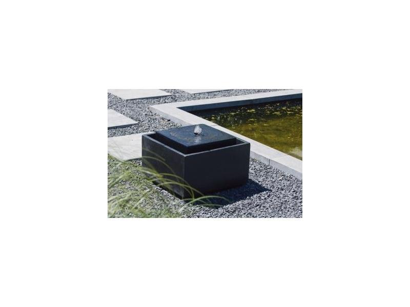 OUTSIDE LIVING INDUSTRIESDEUTSCHLAND GMBH SONORA - Wasserspiel, eckiges Becken, schwarz, Terrazzo/Poly