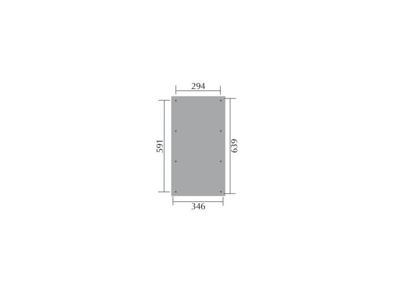 SATTELDACHCARPORT DE LUXE XL 200KP SCHNEELAST B 346XT 639CM