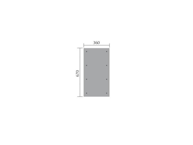 SATTELDACH LEIMHOLZCARPORT MAßE: B 360XT 680 CM