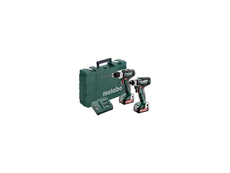 METABOWERKE GMBH & CO. KG Metabo Combo Set Akku-Bohrschrauber Power Maxx BS12+Akku- Schlagschrauber PowerMaxx SSD 12; 2x Li-